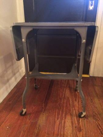 Vintage Typewriter Cart     $30   I love these vintage typewriter carts - they make a perfect side table or nightstand.      View on Craigslist