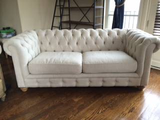 Tufted Linen Sofa     $500     View on Craigslist