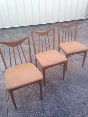 Set of 3 Mid Century Chairs     $125     View on Craigslist