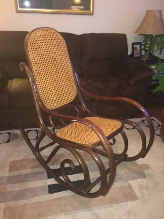 Bentwood Rocker     $50   These rockers can look so different when styled well (see below).They also look pretty painted.   See on Pinterest     View on Craigslist