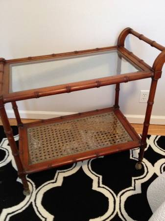 Vintage Bamboo Tea Cart     $99   Use as is or would look great painted.    See on Pinterest      View on Craigslist