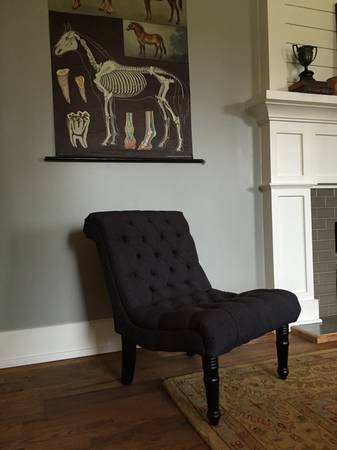 Pair of Tufted Gray Chairs     $300     View on Craigslist