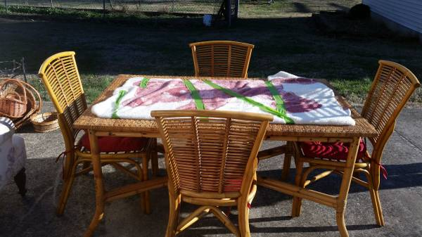 Bamboo/Rattan Table and Chairs     $100     View on Craigslist