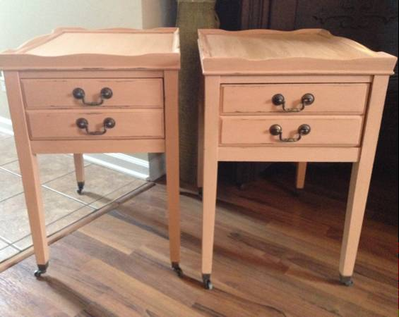 Pair of Refinished End Tables     $125     View on Craigslist