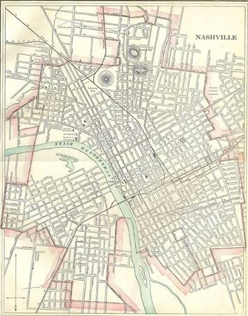 1901 Nashville City Map     $18   his just needs aframe and would be perfect hanging on your wall.    View on Craigslist