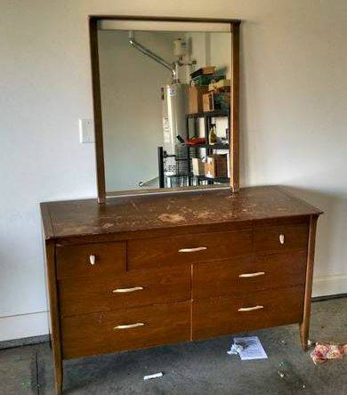 Dresser with Mirror     $60   This looks like it could use a bit of work, but with some sanding and some paint it will be totally transformed.    View on Craigslist