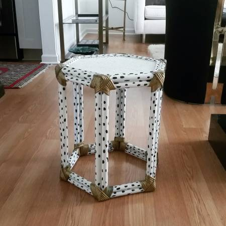 Bamboo Painted Side Table     $20     View on Craigslist