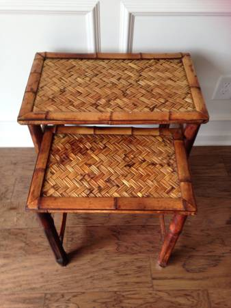 Bamboo Nesting Tables     $15     View on Craigslist