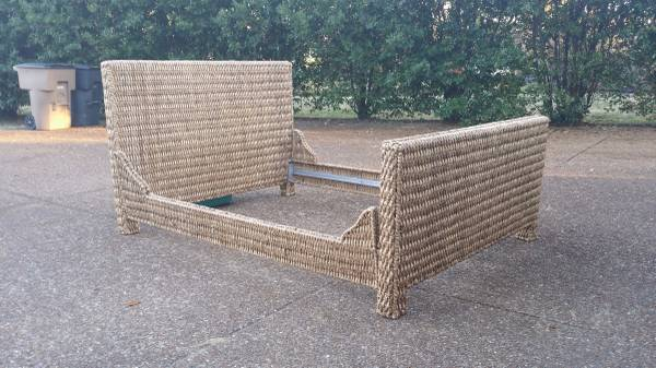Queen Size Wicker Bed     $115     View on Craigslist