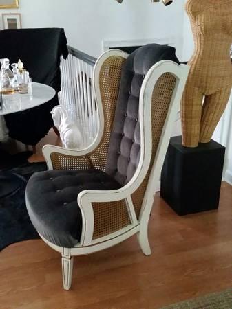 Vintage High Back Cane Chair     $125     View on Craigslist