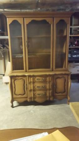 China Cabinet     $75   This would look great painted.    See on Pinterest      View on Craigslist