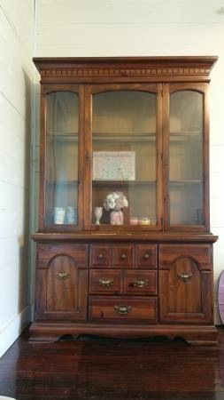 China Cabinet     $100   This would be a great piece to paint.    View on Craigslist