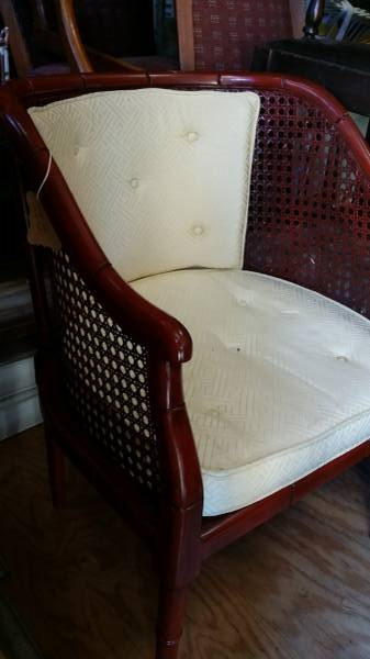 Vintage Cane Back Chair     $25   This would look great painted and with a new cushion.    View on Craigslist