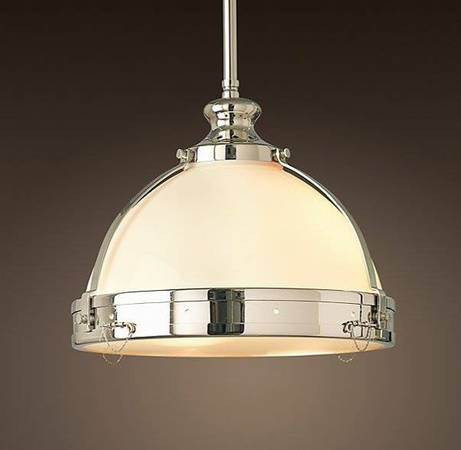 Set of 3 Restoration Hardware Pendants     $500   These retail for $260 each.    View on Craigslist