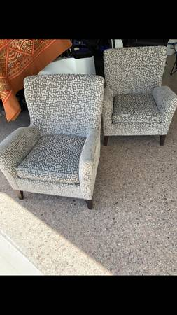 Pair of Mitchell Gold Chairs     $700     View on Craigslist
