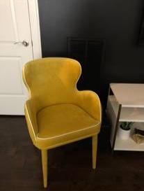 Modern Yellow Chair     $120     View on Craigslist