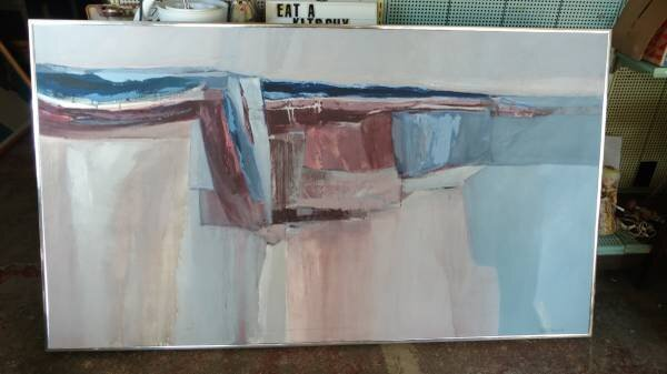 """Large Vintage Oil Painting    $500   This is a huge piece - 70"""" x 40"""".   View on Craigslist"""