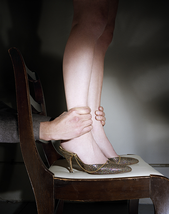 Untitled,  (Hand Grabbing Ankles)   from  Early Color Portfolio , circa 1976 16 x 20 inches Archival Pigment Print