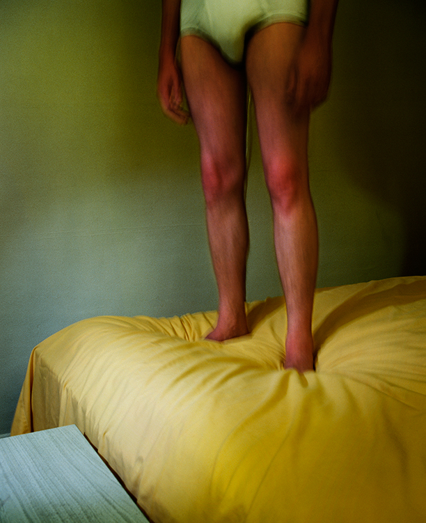 Untitled,  (Man on Yellow Bed) from  Early Color Portfolio , circa 1976 16 x 20 inches/9.75 x 12 inches Archival Pigment Print