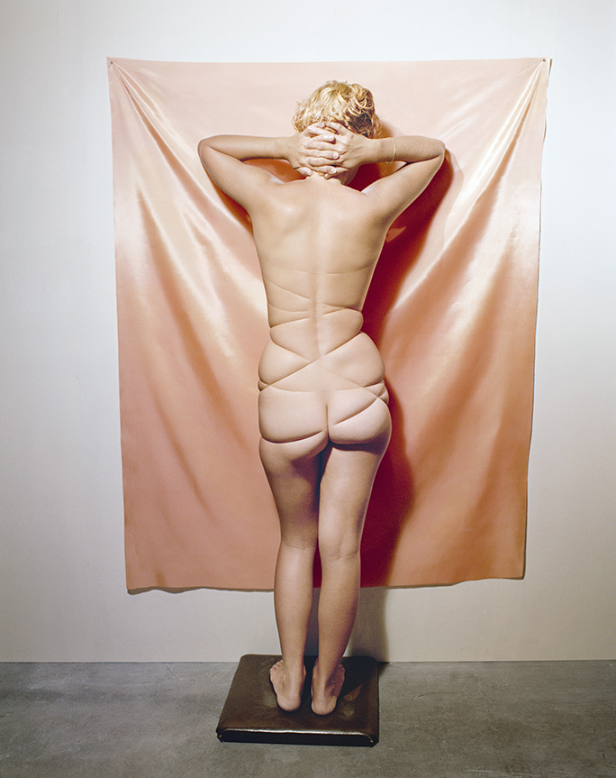 Untitled,  (Nude with String), from  Early Color Portfolio , circa 1976 16 x 20 inches/9.75 x 12 inches Archival Pigment Print