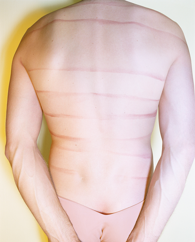 Untitled  (Male Torso Marks on Back)   from  Early Color Portfolio , circa 1976 16 x 20 inches Archival Pigment Print