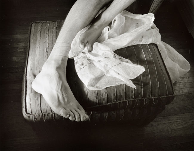 Untitled, (Feet)   from the  Early Black and White Portfolio , circa Early 1970's Silver Gelatin Print 14 x 11 inches