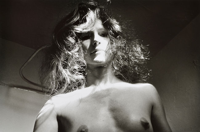 Untitled , ( Man Wig)   from the  Early Black and White Portfolio , circa Early 1970's Silver Gelatin Print 14 x 11 inches