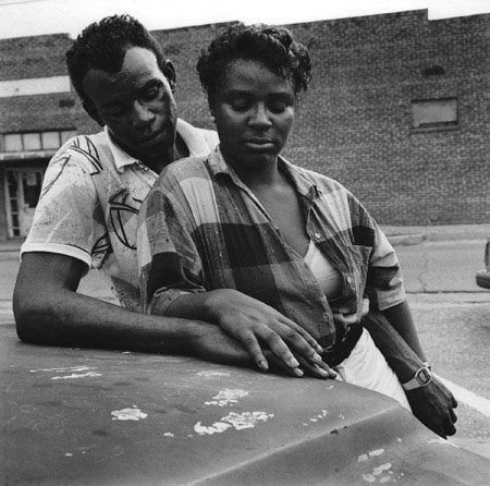 Couple on Catfish Alley , Columbus, Mississippi, 1988  Silver Gelatin Print Image 9.75 x 9.75 inches/Sheet 11 x 14 inches