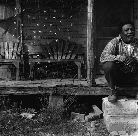 Six Pack's porch , Lowndes County, Mississippi, 1983 Silver Gelatin Print Image 9.75 x 9.75 inches/Sheet 11 x 14 inches