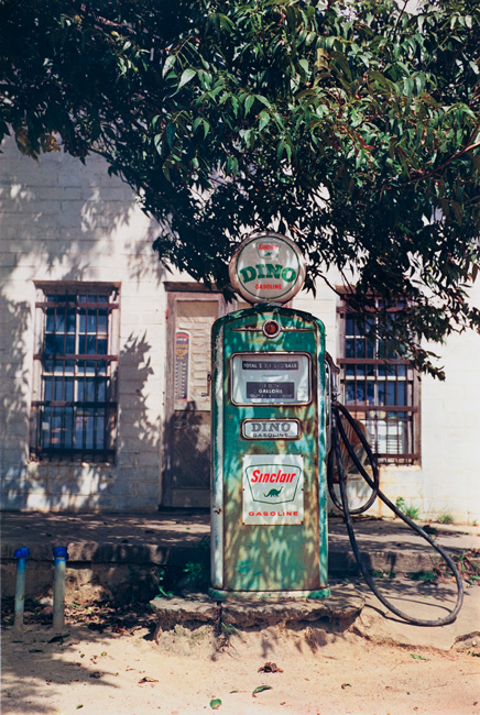 Untitled  (Dino gas pump), 1976 Dye Transfer Print 24 x 20 inches