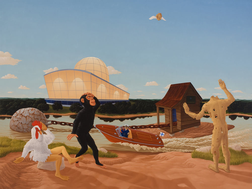 Didactic Painting #1, (Museum of the High Approach) , 2007 Oil on canvas 72 x 96 inches
