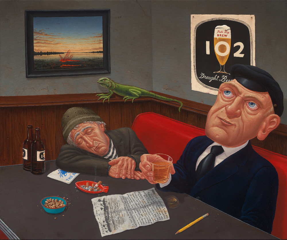 The Cargo, (Captain Herman and Duffy visit the Blue Crab on the Anniversary of their Voyage to Panama) , 2012 Oil on canvas 20 x 24 inches