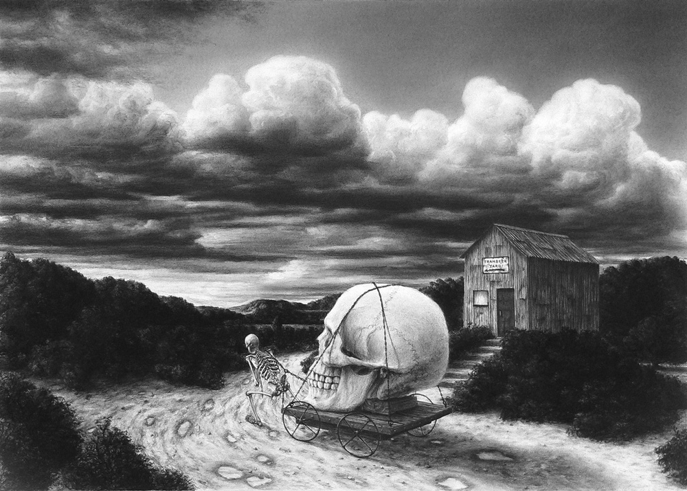 Load(Transfer Yard) , 2009 Charcoal on pastel paper 20 x 28 inches