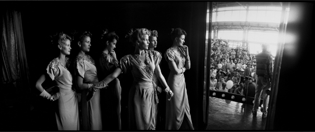 The Tuckerettes in the Wings, on the set of Tucker , 1988