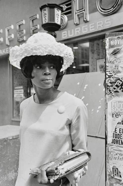 Untitled (African American woman holding book), 1960-1972 Gelatin Silver Print 20 x 16 inches