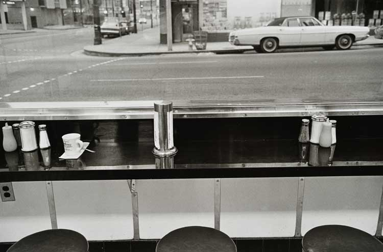 Untitled (Diner counter), 1960-1972 Gelatin Silver Print 16 x 20inches