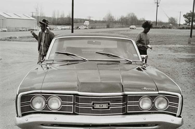 Untitled (Couple and car), 1960-1972 Gelatin Silver Print 16 x 20inches