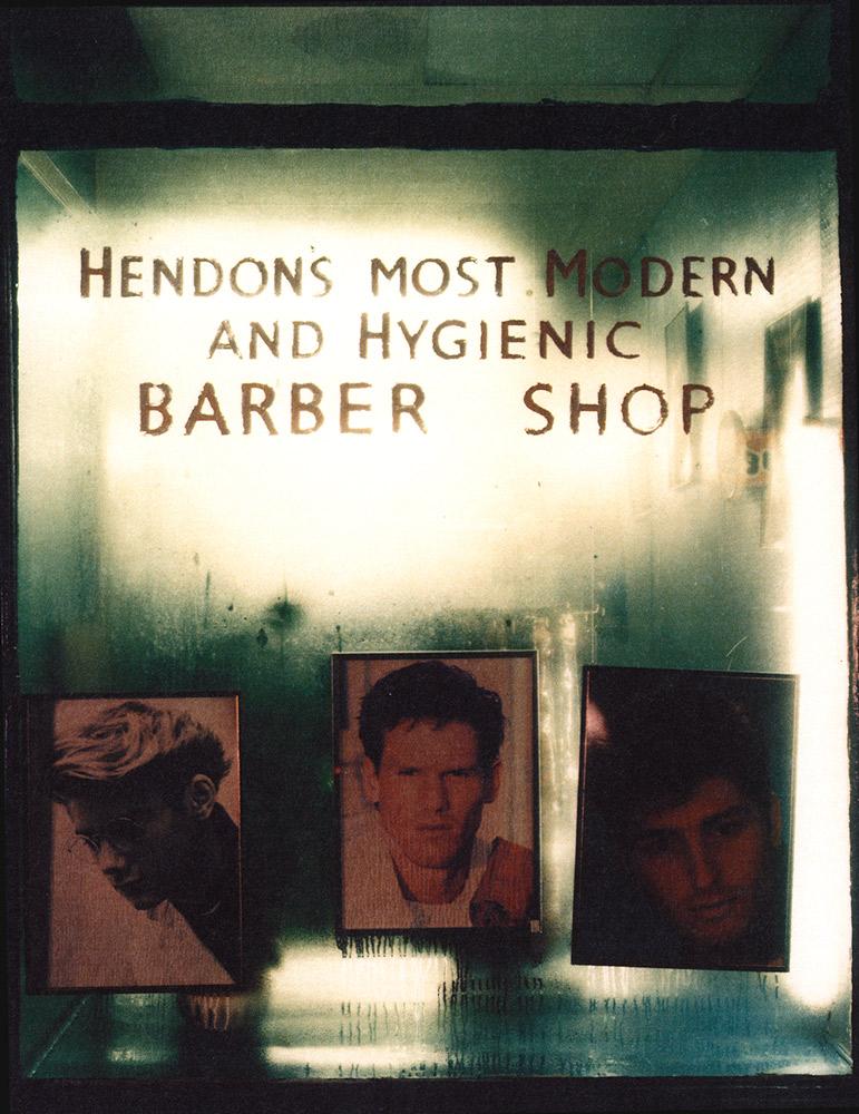 Barbershop Window, Hendon, London, UK , 1990