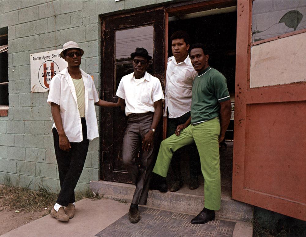 Four Young Men , Washington, 1975 Dye Transfer Print 16 x 20 inch