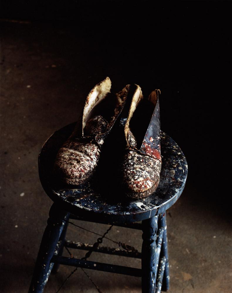 Lee Krasner's Shoes , Pollock Studio, Long Island, 1988 Dye Transfer Print 20 x 16 inch
