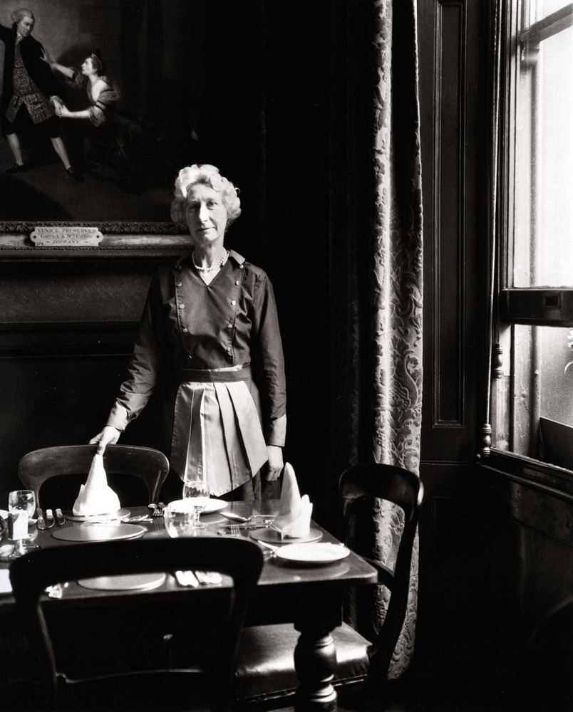 Waitress , Garrick Club, London, 1962 Silver Gelatin Print 20 x 16 inch