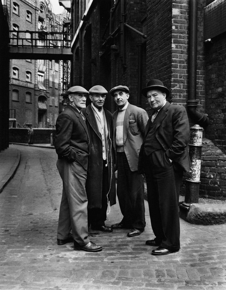 Warehousemen and Foreman , London, 1962 Silver Gelatin Print 20 x 16 inch