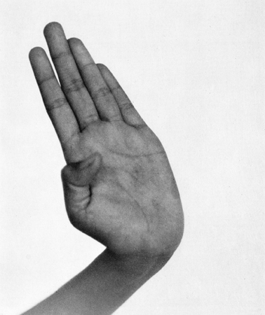 Hand, Indonesian Dancer, Java,  1958