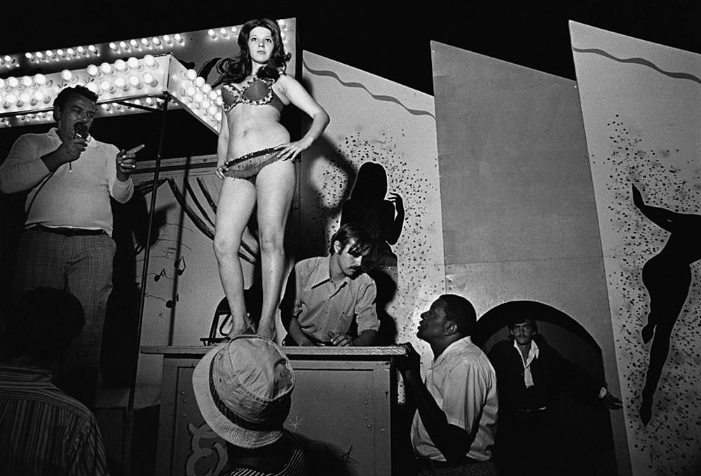 Lena on the Bally Box, Essex Junction, VT , 1973