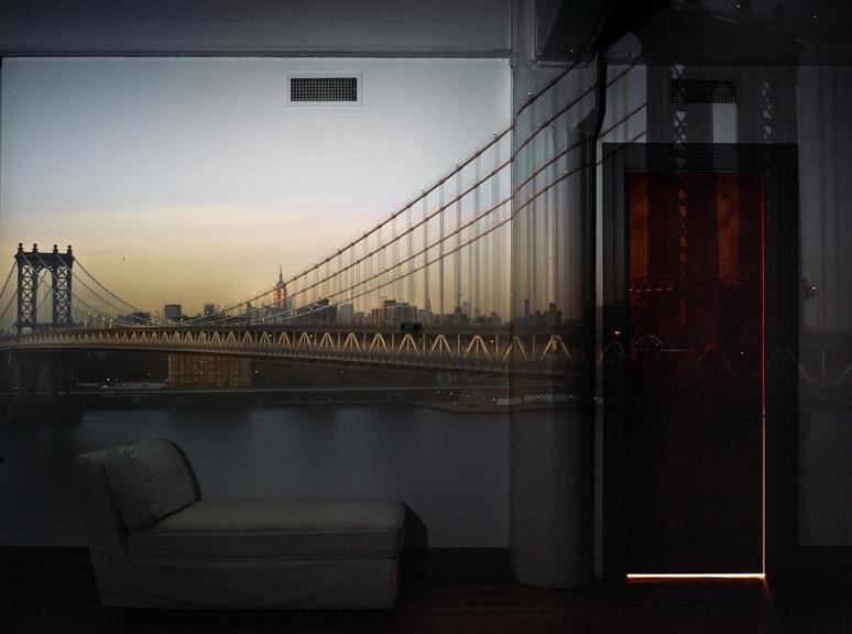 Camera Obscura: View of the Manhattan Bridge, April 30th, Evening, 2010