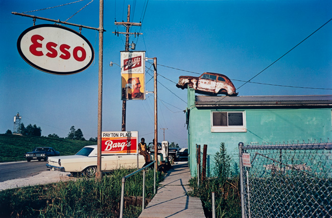 Untitled (Esso sign), 1970-1973 Dye Transfer Print 16 x 20 inches