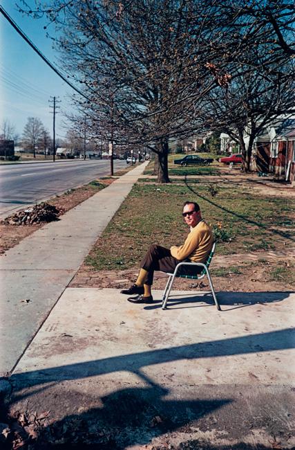 Untitled (Man in lawn chair), 1970-1973 Dye Transfer Print 20 x 16inches