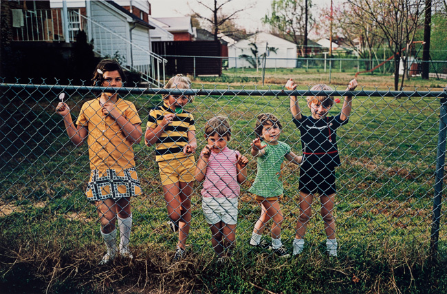 Untitled (Children at a fence), 1970-1973 Dye Transfer Print 16 x 20 inches