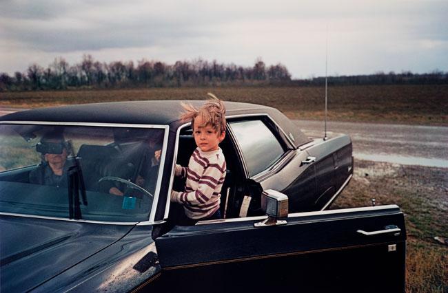 Untitled (Boy and car), 1970-1973 Dye Transfer Print 16 x 20 inches