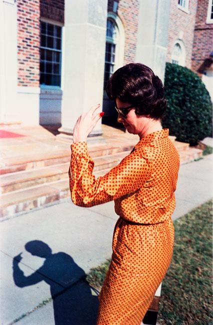 Untitled (Woman in orange), 1970-1973 Dye Transfer Print 20 x 16 inches